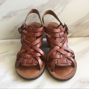 LUCKY BRAND Kisa Heeled Sandals Strappy Leather
